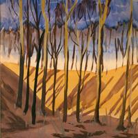 Charles Burchfield -  Trees and Ravine, c. 1917