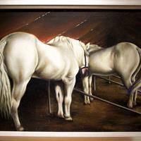 Clarence Holbrook Carter - Circus Horses, 1933