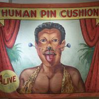 """Fred Johnson, """"Human Pincushion"""""""