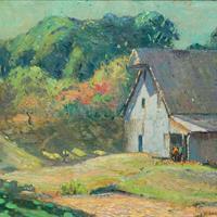 """L.O. Griffith, """"Sunny Barn,"""" c. 1925"""