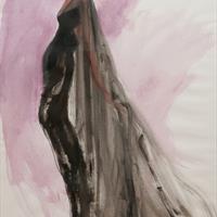 Steven Stipelman's 1995 illustration of a 1971 Kleibacker dress
