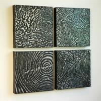 """Ana England, """"Shared Identity: Hurricane and Growth Rings with Thumbprint"""""""