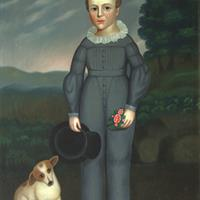 Portrait of Franklin Henry Reed and his dog, c. 1837-1841
