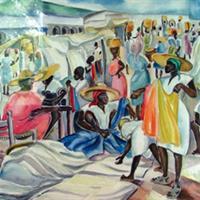 """Carolyn Bradley, """"Cloth Market"""""""