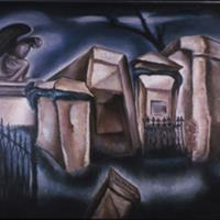 "Natalie Eynon Grauer, Ici Repose, 1946, Oil on canvas, 36"" x 30"""