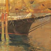 """Harriet Kirkpatrick, """"Docked,"""" 1910"""