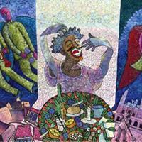 """Alfredo Elias Sanchez Iglesias, """"Amanecer en la Ciudad, (Dawn in the City),"""" 2001"""