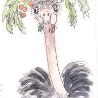 Marcia Brown - The Berries Were Within Reach, How the Ostrich Got Its Long Neck, 1994