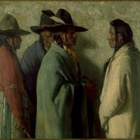 Joseph Henry Sharp - YOUNG CHIEF'S MISSION, 1919