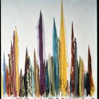 """Deborah Brod, """"Scarves-Candles,"""" 1999"""