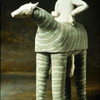 """Juliellen Byrne, """"Horse, Man and Puppets,"""" 2000"""