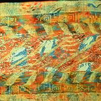 """Deborah Frazee Carlson, """"American Fragment Coverlet Series #4,"""" 1986"""