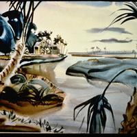 "Joseph Jicha, ""Florida- Nature Study and Sky,"" 1945"