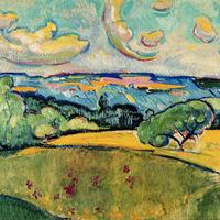 "William Sommer, ""Landscape with Yellow Clouds,"" c. 1915"