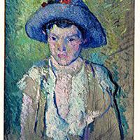 "Willam Sommer, ""Girl in Purple Hat,"" 1911"