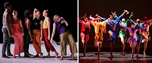 Performance photos of the Bebe Miller Company and the Dayton Contemporary Dance Company