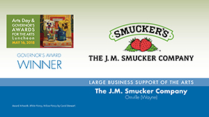 The J.M. Smucker Company, Large Business Support of the Arts Award Winner