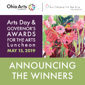2019 Arts Day & Governor's Awards for the Arts in Ohio announcing the winners logo