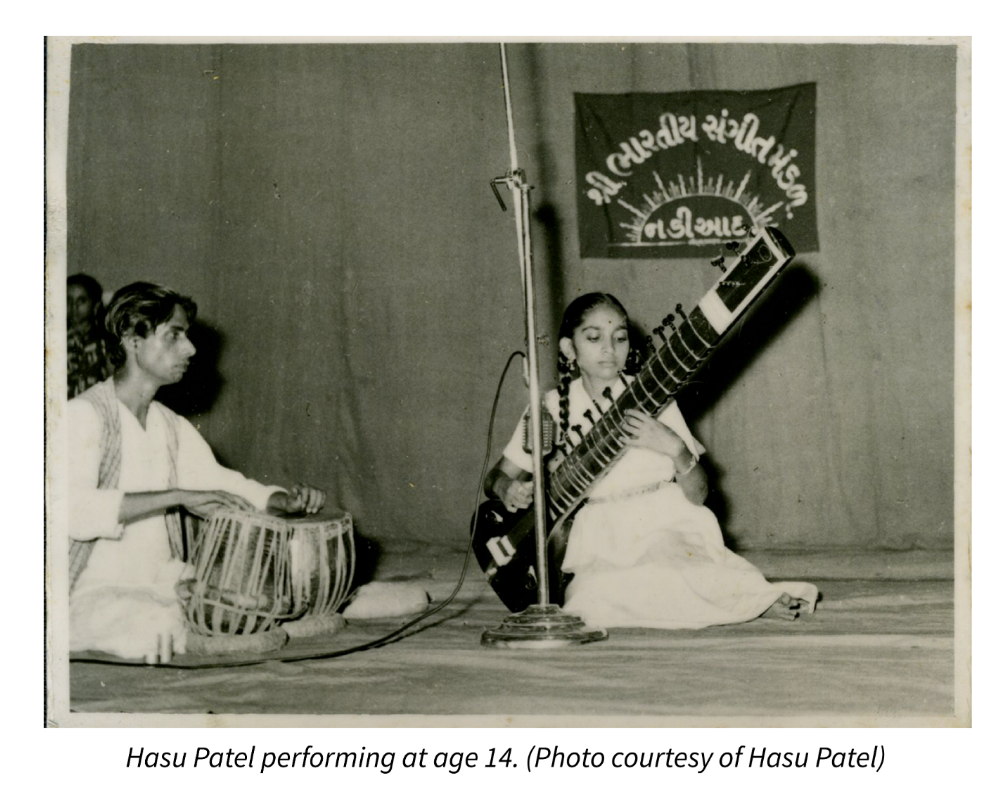 Hasu Patel performing at age 14. Photo courtesy of Hasu Patel