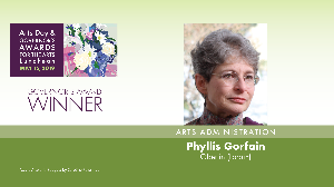 Phyllis Gorfain, Arts Administration Award Winner
