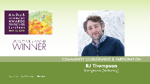 RJ Thompson, Community Development & Participation Award Winner