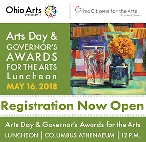 Registration Now Open for 2018 Arts Day & Governor's Awards for the Arts Luncheon