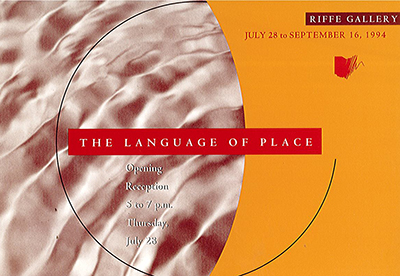 The Language of Place postcard